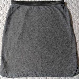 Gray Gap Skirt